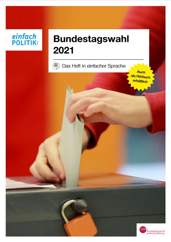 Cover Broschüre Bundestagswahl 2021
